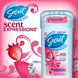 Lăn Khử Mùi Secret Scent Expressions Clear Gel - Cocoa Butter Kiss 73g