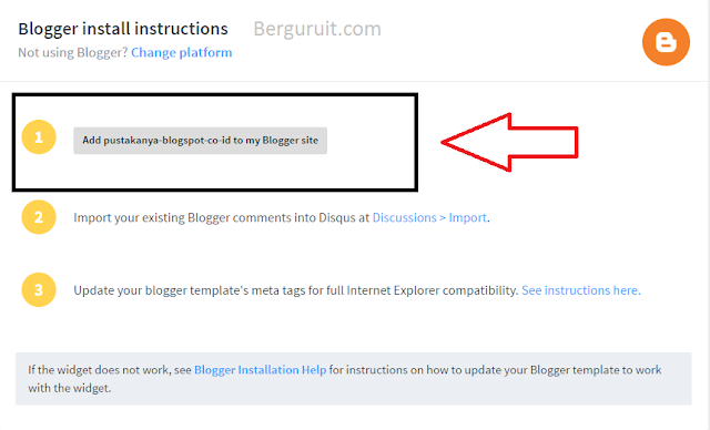 Instal disqus to blog