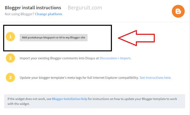 Instal disqus to blog