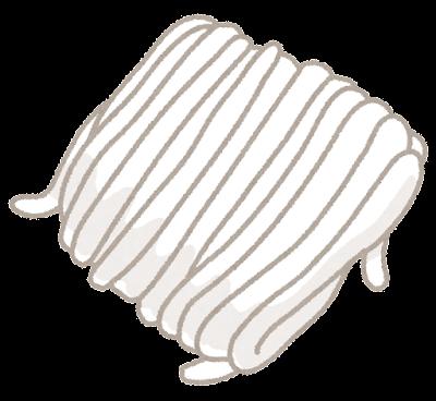 うどんの麺のイラスト