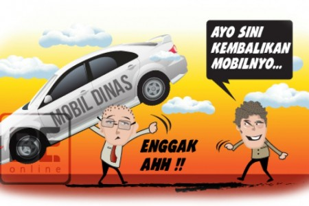 Mantan Ketua Dan Wakil Ketua DPRD Oi Belum Kembalikan Mobdin