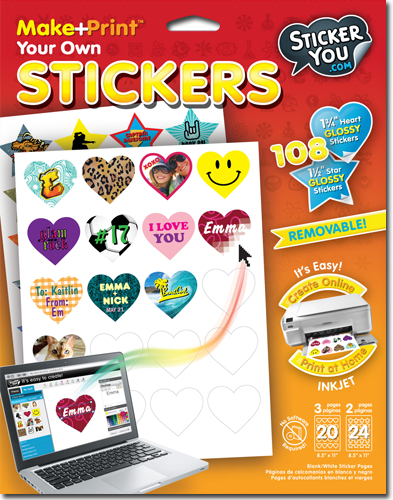 Using their new make print blank sticker paper you can now make print your own stickers at home with their award winning online sticker maker