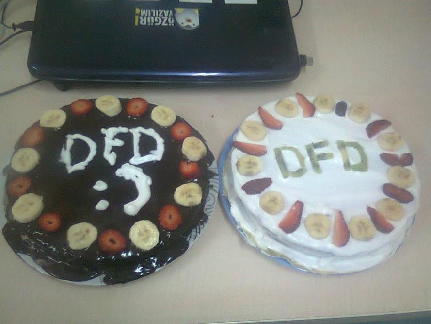 Nermin'in geçtiğimiz yıl yaptığı Belge Özgürlüğü Günü pastası.