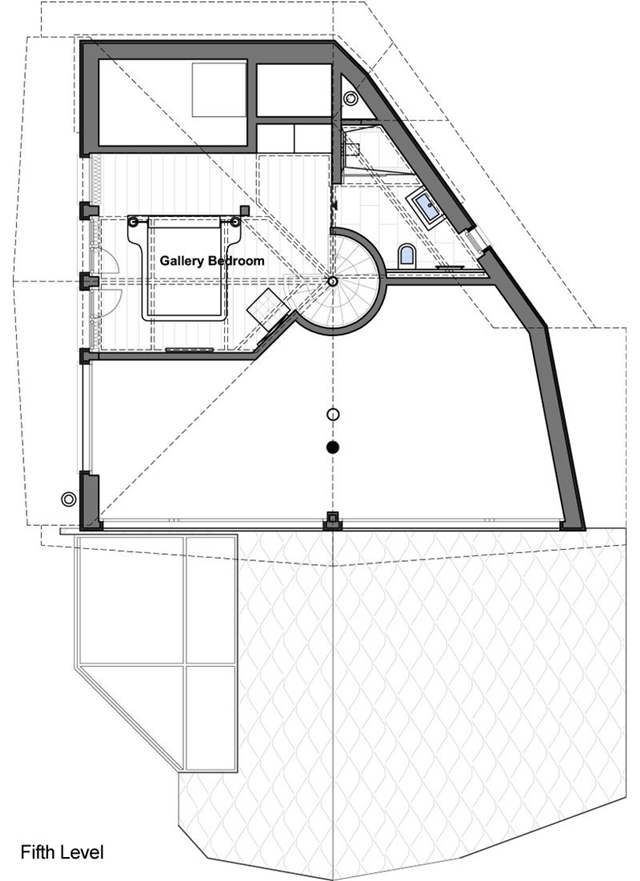 Fifth level mountain home floor plan