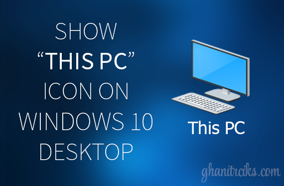 Show this pc on desktop