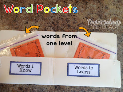 Sight word activities sight word pockets