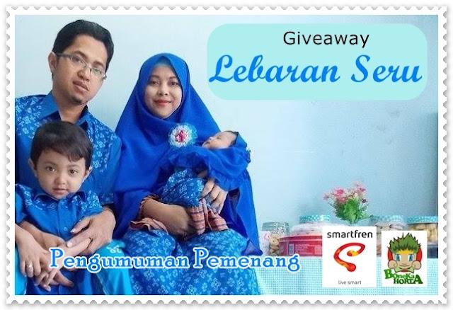 Pengumuman pemenang Giveaway Lebaran Seru