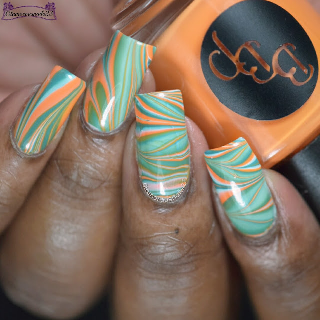 Watermarble Wednesdays: White, Orange & Jade