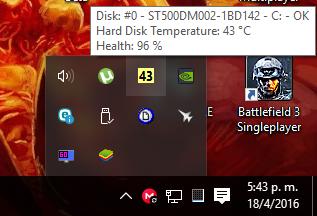 Icono en la barra de tareas