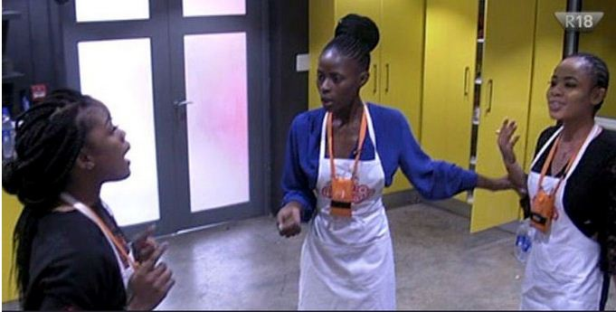 bbnaija housemates, cee c, nina and khloe fights over food
