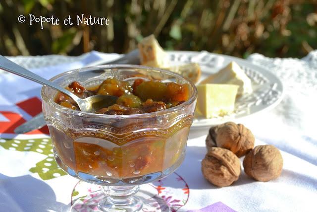 Chutney tomates vertes, piment et gingembre @Popote et Nature