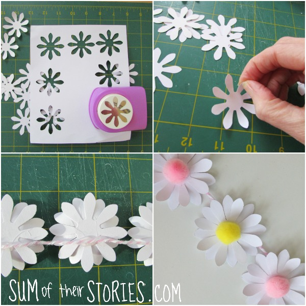 making a daisy flower garland