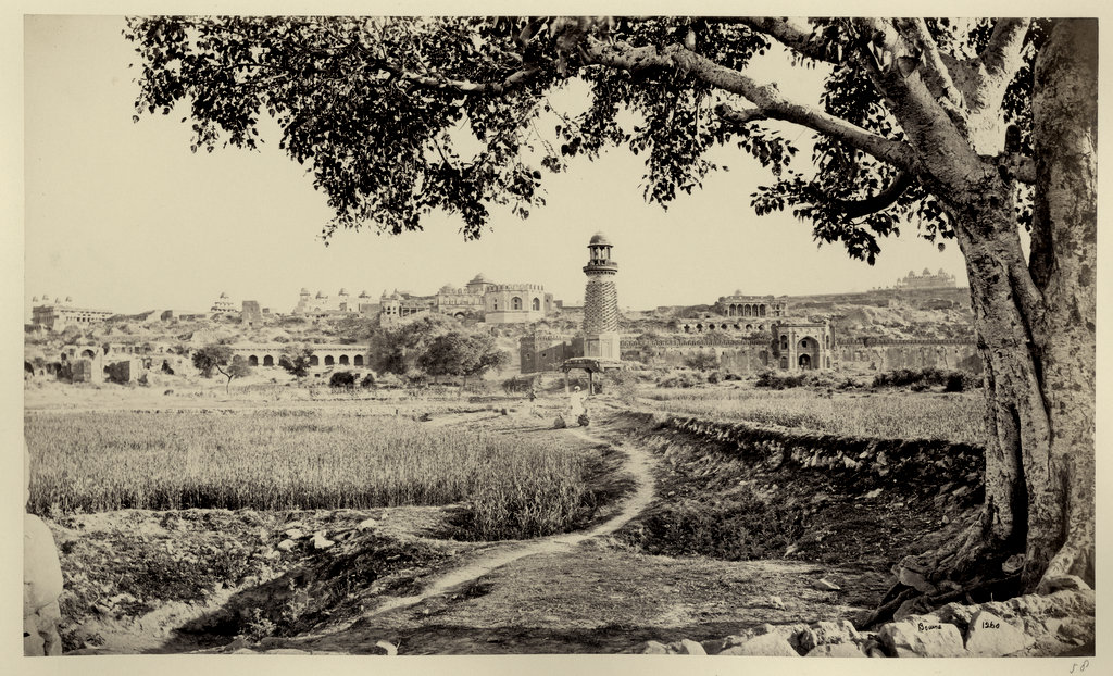 Distant View of Fatehpur Sikri - Agra 1860's