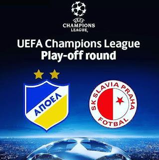 Champions League  APOEL FC v Slavia Praha