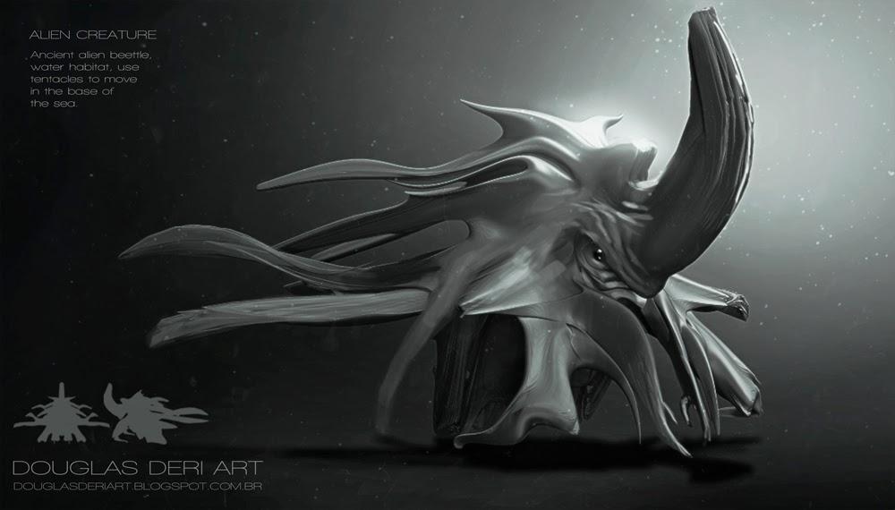 douglas deri, deri,alien,creature,sci-fi,character design