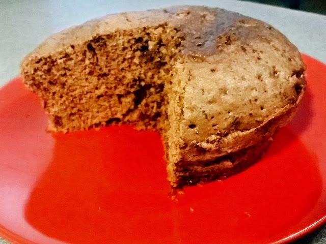 pastel en el microondas en 4 pasos