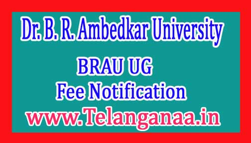 BRAU UG 3rd Year Supply Exam Fee Notification 2017