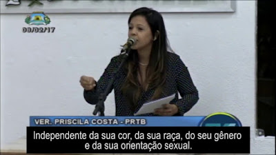 Vereadora Priscila Costa critica militantes de extrema-esquerda