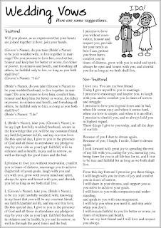 Pagan Wedding Vows Examples