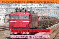 Bhartiya Rail Bijlee Limited Recruitment 2017– Diploma Trainees