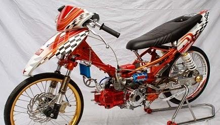 50+ Modifikasi Motor Revo Drag