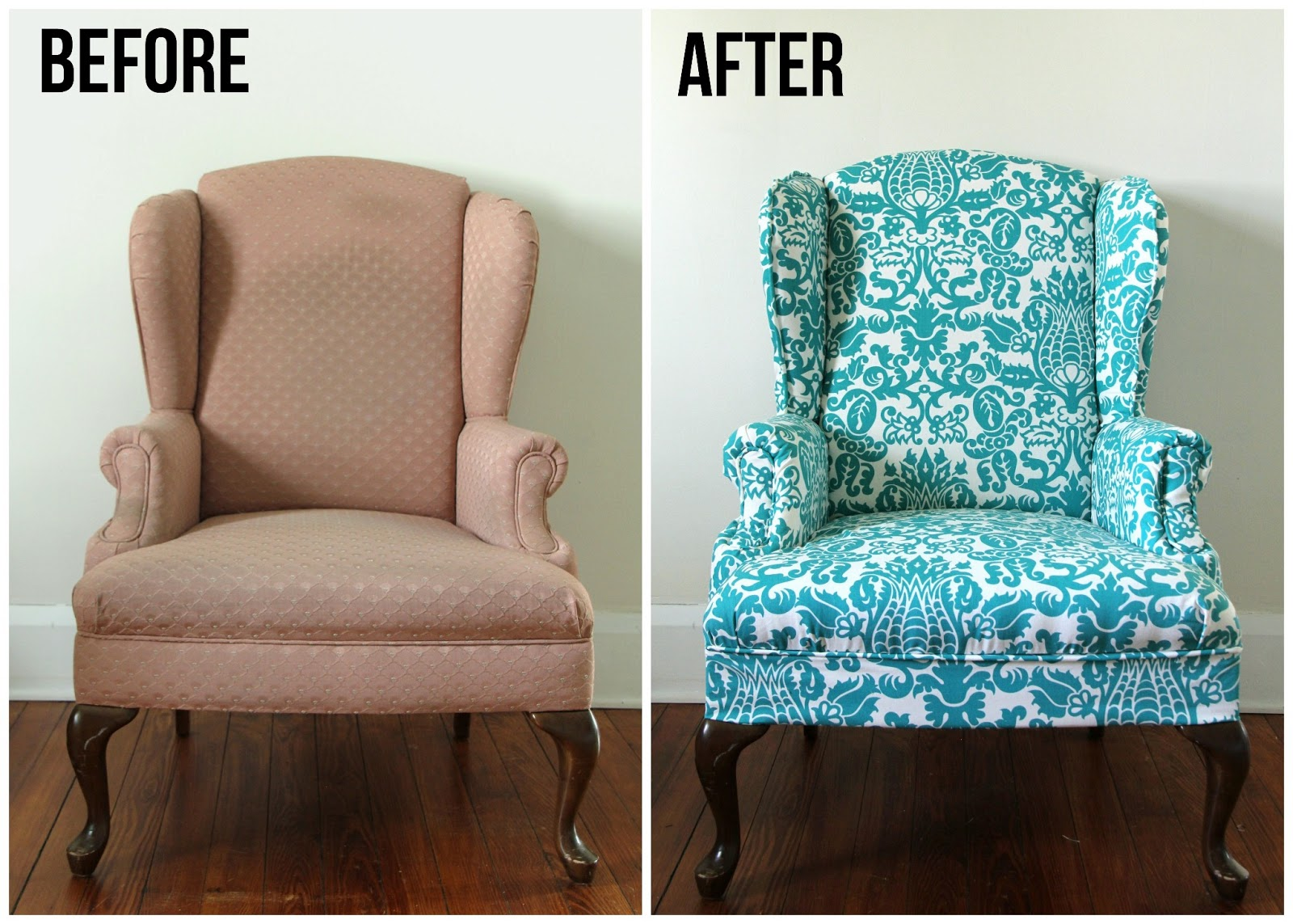 Lovely Little Life: DIY Upholstered Wingback Chair