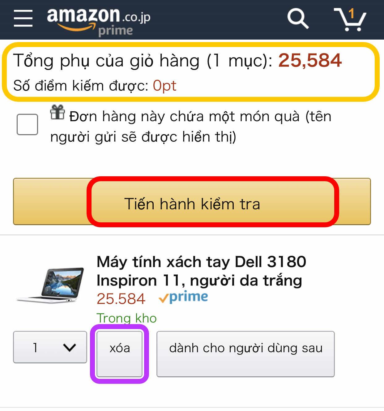 Cách mua hàng trên Amazon JP diiho