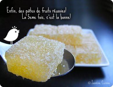 Pate De Fruits Au Citron Jasmine Cuisine