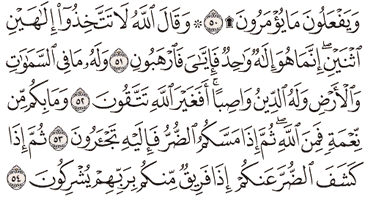 Tafsir Surat An-Nahl Ayat 51, 52, 53, 54, 55
