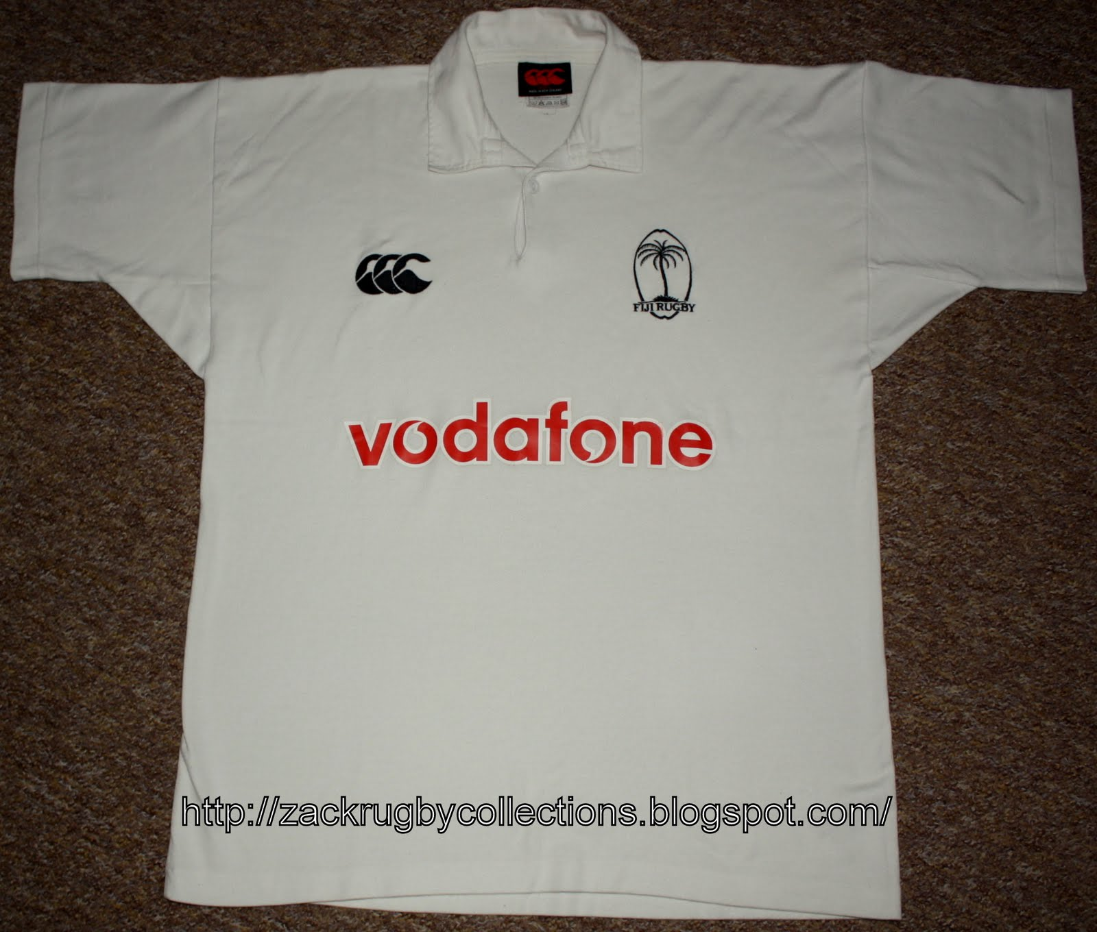 ZackRugby Collections®: Fiji Pro Away 2002/2003 Rugby Jersey