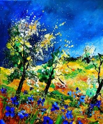 Primavera - Cores fortes e vibrantes nas pinturas de Pol Ledent