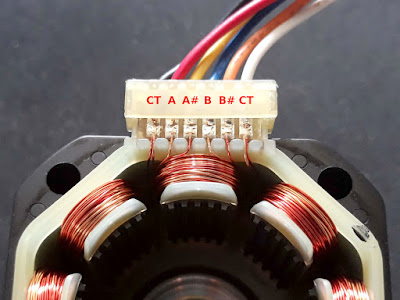 6-Wire Stepper motor wire connections