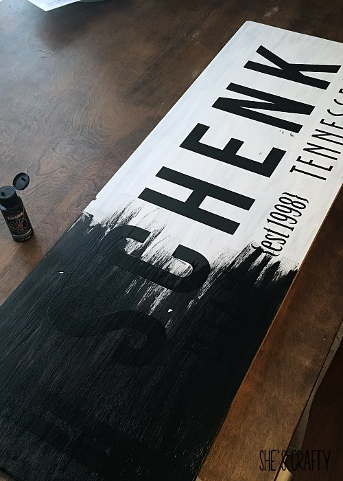 How to use vinyl for a stencil for a wood sign
