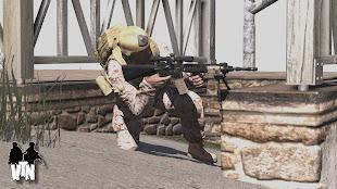 Arma3で現代戦再現のVeteran MODのMk12 Mod 1 SPR