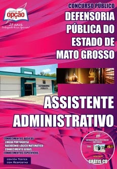 Defensoria Pública do Estado (MT) para Assistente Administrativo - DPMT.