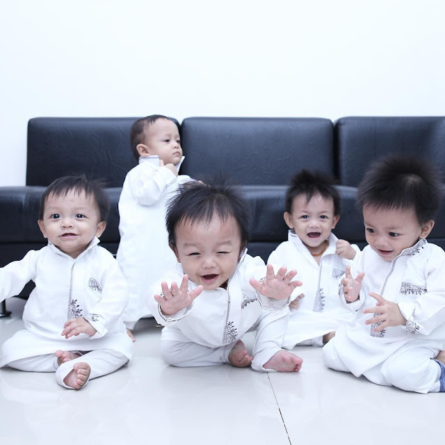 Ini `AIUEO` Bayi Kembar 5 yang Kini Makin Lucu Saat Gede