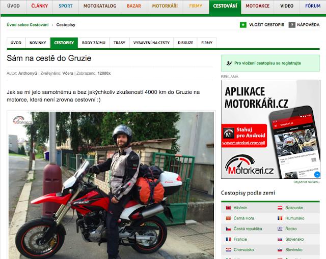 Na motorce do Gruzie - cestopis na Motorkáři.cz