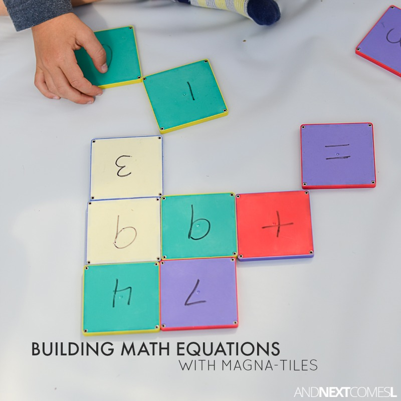 Simple Math Activity for Kids Using Magna-Tiles | And Next Comes L