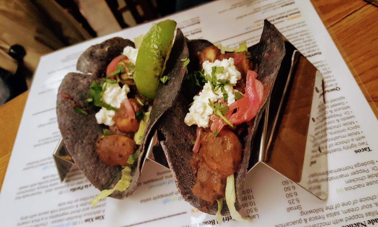 Bodega Leicester Review - mushroom tacos
