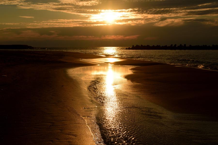 徳光海岸の夕景