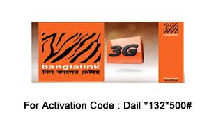 Banglalink 3G Internet  Bundle Package 500 TAKA