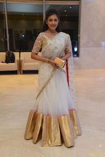 Actress Madhu Shalini Stills in Saree at Delhi Rajeswari Son Wedding Reception  0026
