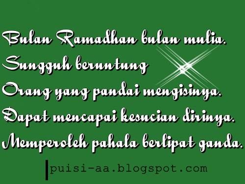 Puisi Menyambut Ramadhan
