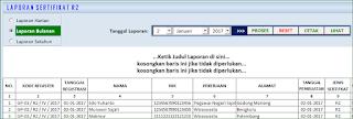 Aplikasi Excel Cetak Blanko Sertifikat