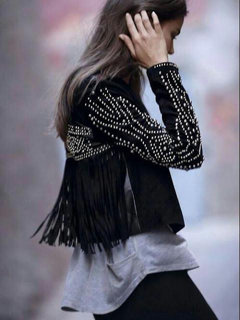 Boho black jacket