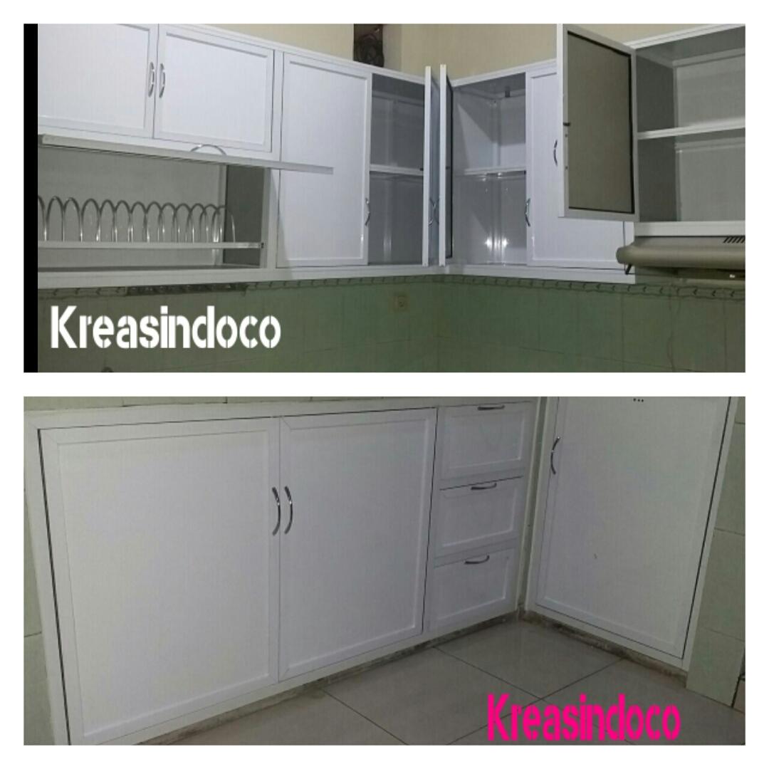 50 Tren Gaya Model Kitchen Set Warna Putih Dapur Minimalis