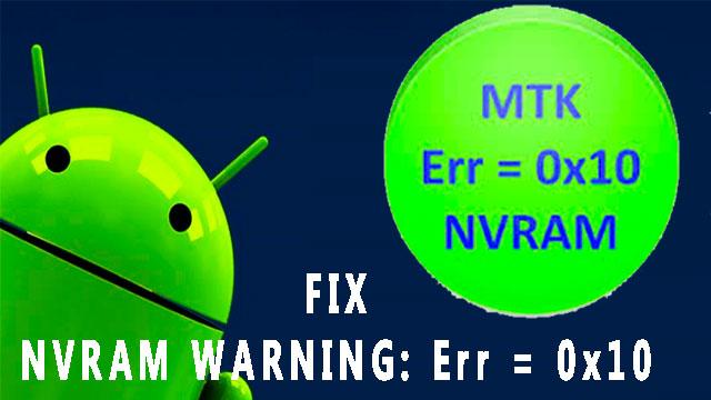 Solución al error NVRAM WARNING: ERR = 0x10