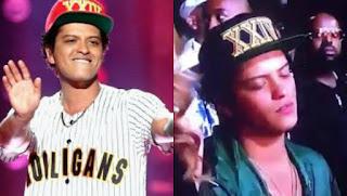 El cantante Bruno Mars no pudo con el cansancio y se quedó dormido