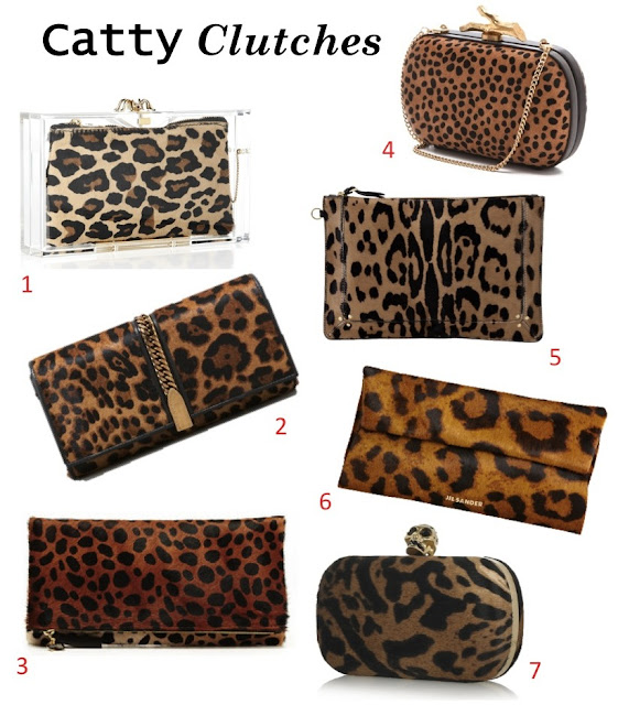 Leopard Print Clutches