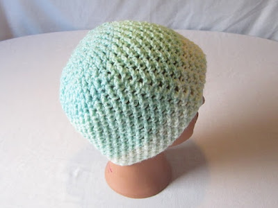 crochet, free pattern, hat, beanie, stretchy, Caron Cakes, Faerie's Enchantment Hat